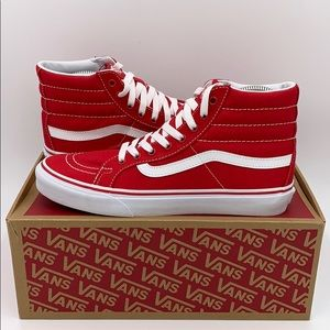 Vans Sk8 Hightop Slim Racing Size 7.5/9 Red White